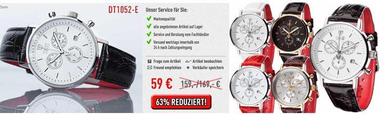 DETOMASO Milano   Herren Chronographen für je 59€