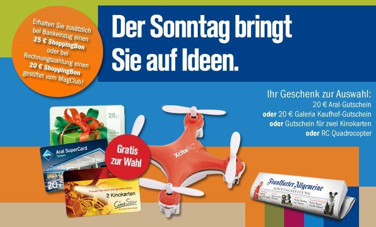 FAZ Frankfurter Allgemeine Sonntagszeitung 3 Monate mit effektiv 5,10€ Gewinn   Update!