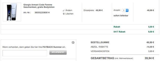 Galeria Kasse 20% Rabatt auf Damen Düfte und Duftsets + 10% Gutschein   Update!