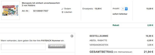 Galeria Monopoly Hasbro Monopoly   Ich, einfach unverbesserlich 2 für 21,94€