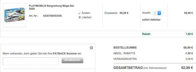 Playmobil City Action 5059 Bergrettung Mega Set für 62,99€