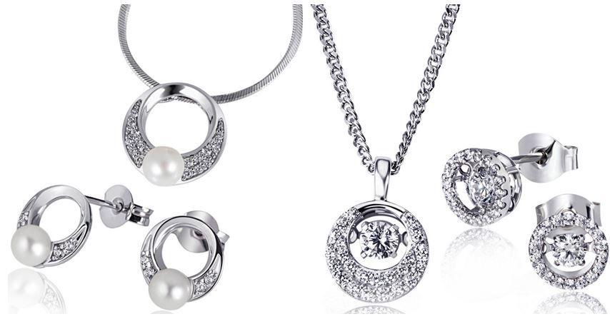 Goldmaid Goldmaid Kette und/oder Ohrringe aus 925 Sterlingsilber mit Perle und Zirkonia für je 39,99€