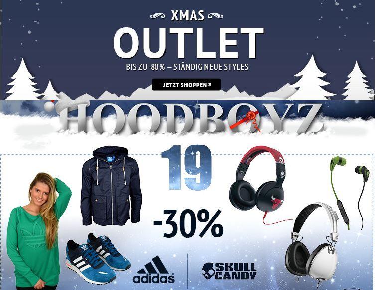 Hoodweihnachten1 adidas und Skull Candy Kopfhörer mit 30% Rabatt auf ausgewählte Kleidung bei den Hoodboyz!