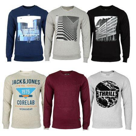 Jack & Jones Sweatshirts   9 verschiedene Modelle für je 17,90€