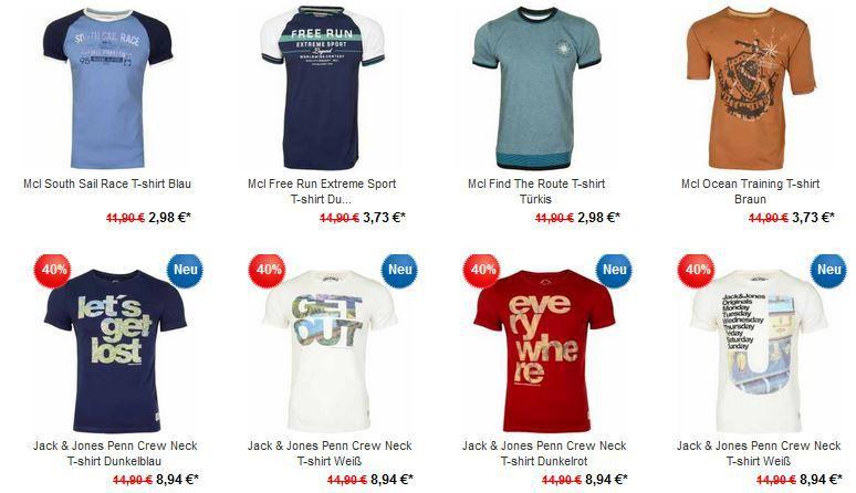 Jack & Jones Penn Crew T Shirt bei der 40% Rabatt auf alle T Shirts Aktion der Hoodboyz