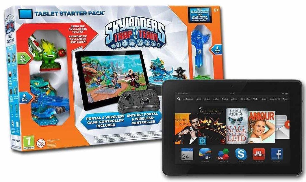 Kindle fireee  Kindle Fire HDX 7 inkl. Skylanders Trap Team im Starter Pack für 149€