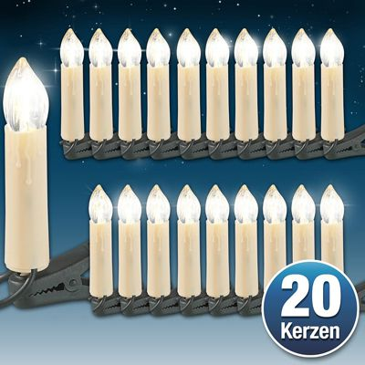 Lichterkette Lunartec 2 LED Lichterketten mit je 20 LED Kerzen für 8,90€