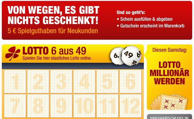 Lotto24: 5€ Spielguthaben ohne MBW für Neukunden   4 Felder 6 aus 49 kostenlos spielen