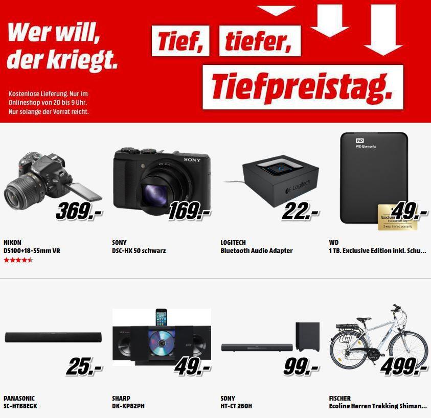 MM tiefpreis Nikon D 5100   16MP SLR Kamera + 18 55 VR Objektiv für 369€ bei der MediaMarkt Tiefpreisschicht