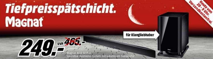 Magnat MAGNAT WSB 50 PRO   Soundbar Heimkino System mit Funk Subwoofer statt 408€ für 249€