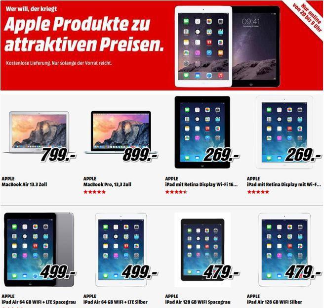 MediaMarkt Tiefpreis Aktion2 Apple MacBook Air 13″statt 863€ für 799€   und mehr MediaMarkt Apple Tiefpreis Angebote   Update!