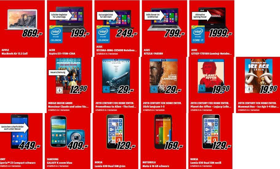 MediaMarkt1 Samsung UE40H6590   40 Zoll TV für 499€ und mehr MediaMarkt Angebote
