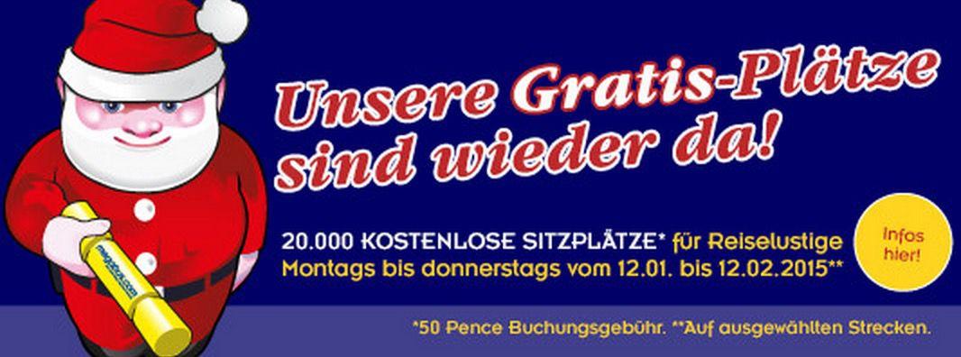 Megabus 20.000 kostenlose Megabus Tickets mit 0,50€ Bearbeitungsgebühr