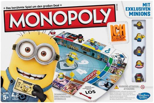 Monopoly Minions Hasbro Monopoly   Ich, einfach unverbesserlich 2 für 21,94€