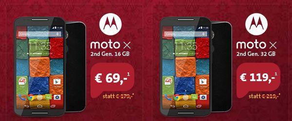 moto X   Smartphone mit 16GB (Wert 466€) + Telekom Talk Easy 100 Vertrag für effektiv 12,87€ monatl.