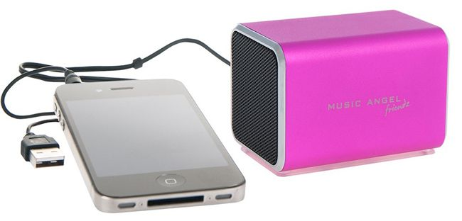 Music Angel Friendz Music Angel Friendz    mobiler Lautsprecher in Pink für 4,99€