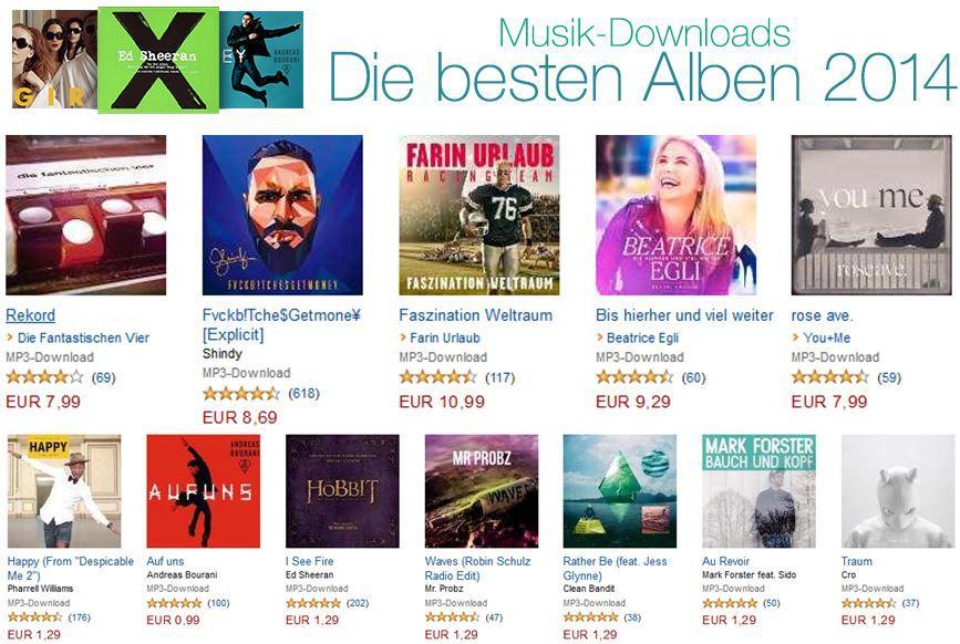 Amazon Musik Downloads: die besten Alben des Jahres!