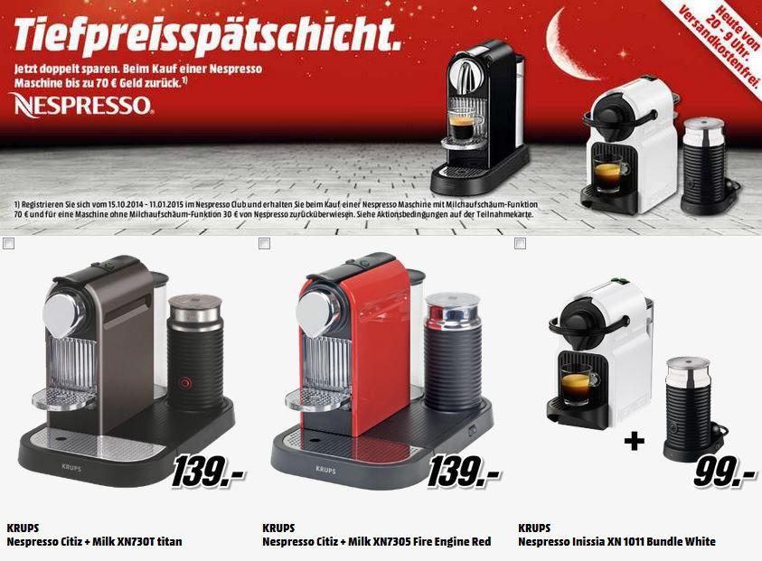 Nespresso Automaten WD   ext. 2TB 2.5HDD für 79€   De'Longhi Nespresso Citiz EN 166.B für effektiv 69€   MediaMarkt Tiefpreisschicht!
