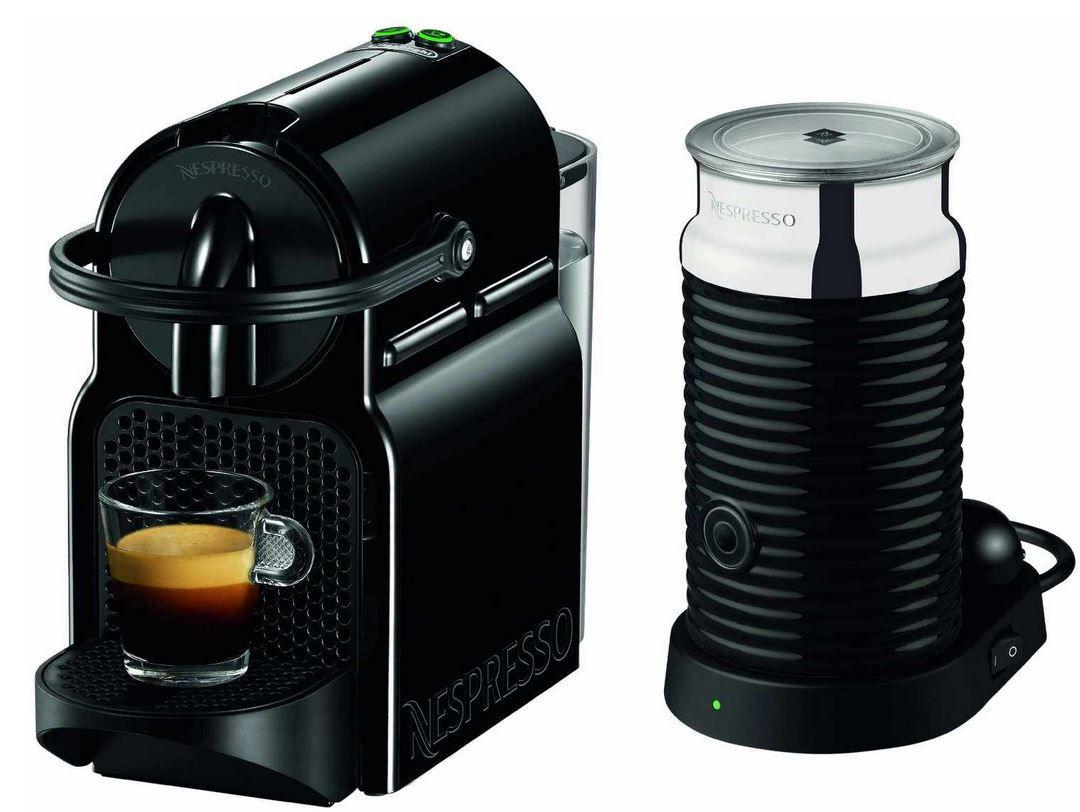 Nespresso DeLonghi EN 80.BAE Inissia   Nespresso Maschine und Milk Black Milchaufschäumer für effektiv 59€ dank Cashback