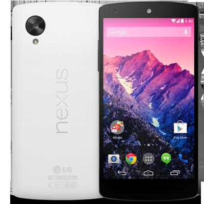 Google Nexus 5 16GB Weiß + Snap Case oder in Rot + QuickCover für jeweils 269,99€