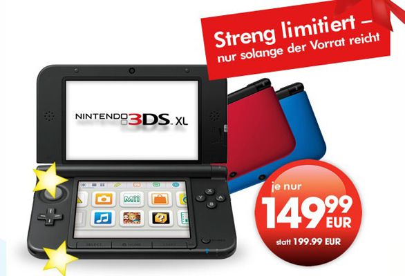 Nintendo 3DS XL Nintendo 3DS XL für 150€ im GameStop Adventskalender – nur offline in den Filialen verfügbar