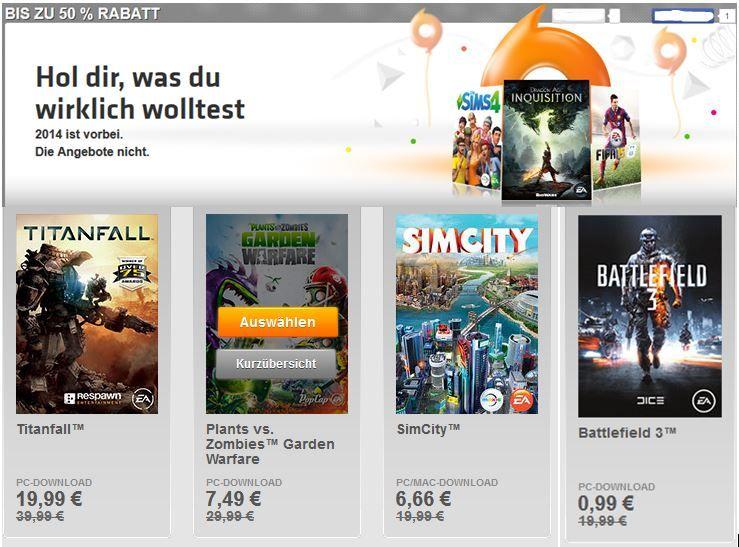 Battlefield 3 ab 0,99€ im ORGIN XMAS Sale   über 100 Spiele mit 50% Rabatt