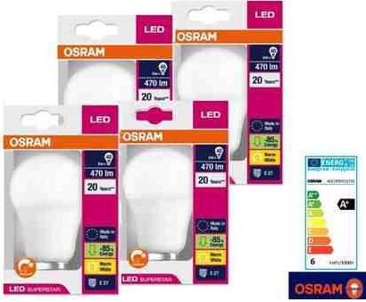 Osram LED Superstar Classic   4er Pack für 30,90€