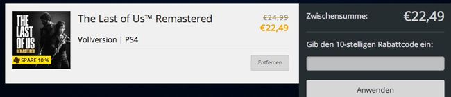 The Last of Us Remastered für PS4 ab 22,49€ im Playstation Store