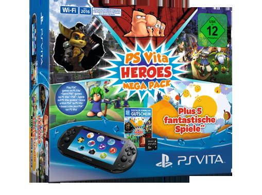 PS Vita Heroes Megapack1 PS Vita WiFi Konsole 8GB + Heroes Mega Pack ab 99€