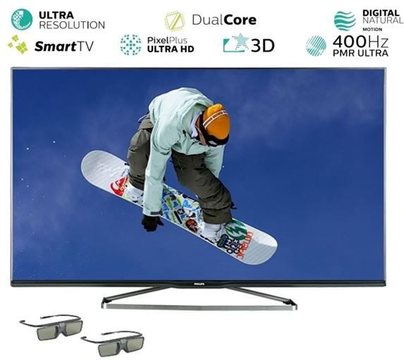 Philips Philips 40PUS6809   40 Zoll 4K 3D Ultra HD WLan Smart TV für 529€
