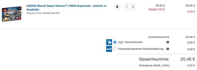 LEGO 76003 Marvel Super Heroes   Superman   Aufruhr in Smallville für 25,46€