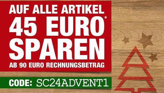 SC24 45€ Rabatt ab 90€ Bestellwert bei SC24   auch auf reduzierte Ware!