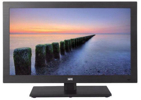 SEG Nizza Fernseher SEG Nizza   22 Zoll Full HD LED Fernseher mit Triple Tuner und DVD Player für 129€