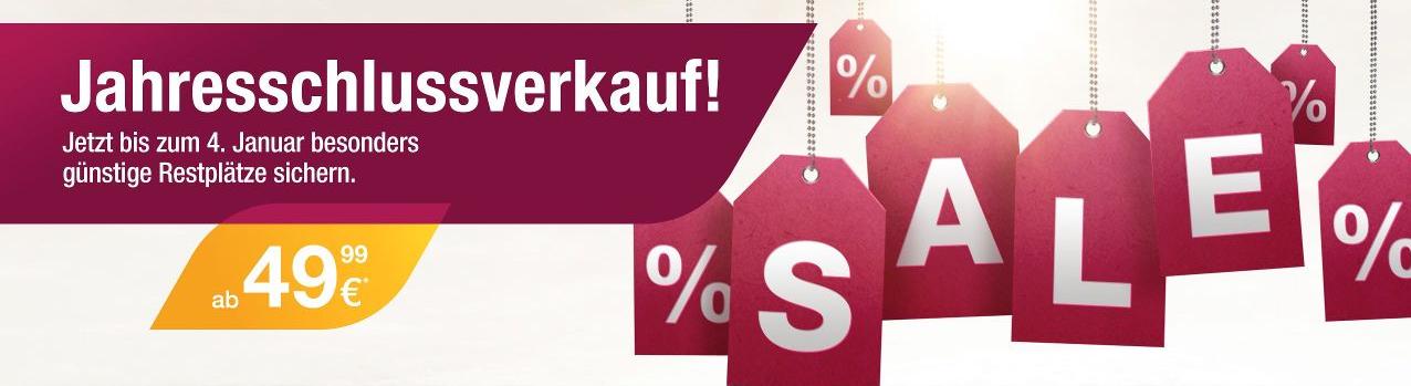 Sale Germanwings Jahreschlussverkauf Tickts von 49,99 bis max.98,99€ bis 04.01.2015