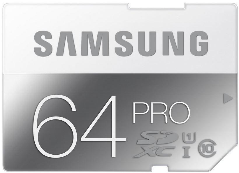 Samsung Memory 64GB PRO SDXC UHS I Grade 1 Class 10 Speicherkarte für 40,90€   Update!