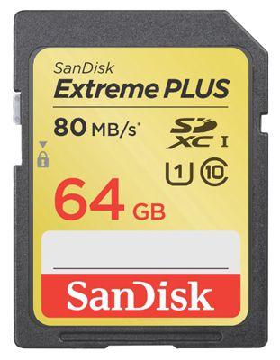 SanDisk SDXC Extreme Plus 64GB Class 10 Speicherkarte ab 44€
