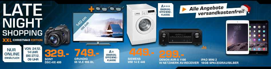 Satun late night shopping GRUNDIG 55 VLE 988 BL – 55 Zoll 3D smart TV für 749€ und mehr Saturn XL Late Night Angebote   Update
