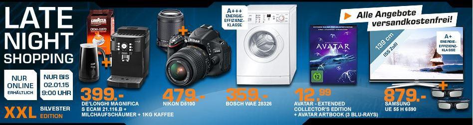 Saturn Late Night2 NIKON D5100+18 55mm VR+55 200mm VR statt 561 für 479€ und mehr Saturn XL Late Night Angebote