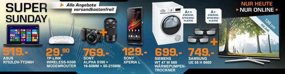 SONY Alpha 5100Y + 16 50mm + 55 210mm für 649€ und mehr Saturn Super Sunday Angebote   Update
