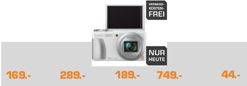 PANASONIC Lumix DMC TZ 56 weiß für 169€ und mehr Saturn Super Sunday Angebote