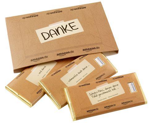 Kostenloses Schokoladenpäckchen zu jeder Amazon Bestellung