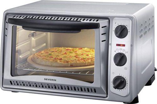 Severin TO 9483 Minibackofen mit Grillspieß, Heißluft und Pizza Stein für 42€