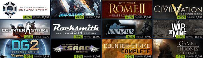 Steam Feiertagsaktion   täglich wechselnde Angebote mit bis zu 90% Rabatt