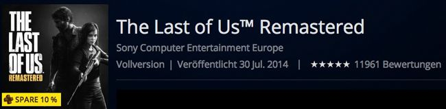 THe Last of us Remastered The Last of Us Remastered für PS4 ab 22,49€ im Playstation Store