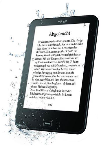 Tolino Vision 2 Tolino Vision 2   6 Zoll eBook Reader mit Beleuchtung für 104€