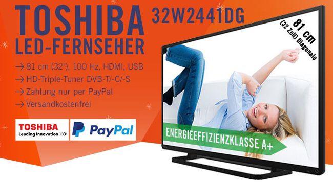 Toshiba 32W2441DG   32 Zoll HD ready LED Fernseher mit Triple Tuner für 199€