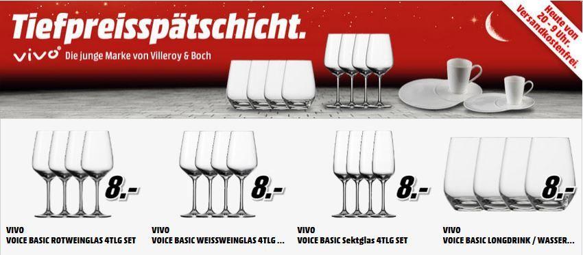 Villerroy&Boch VIVO   Teller und Gläsersets ab 8€ bei der MediaMarkt Tiefpreis Aktion Angebote