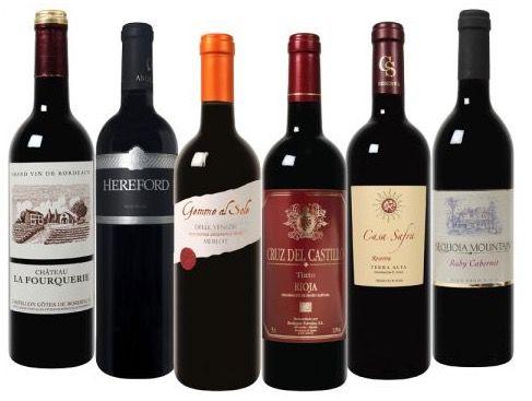 12 Flaschen Rotwein im Wein Überraschungspaket für 30,48€