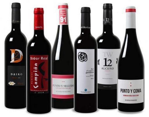 Wein Probierpaket mit bis zu 91 Robert Parker Punkte für 31,49€