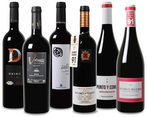 Weinpaket Wein Probierpaket mit bis zu 96 Robert Parker Punkte für 39,99€
